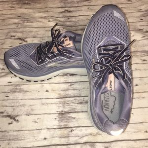 Brooks Ghost 12 Pink Silver Running Shoes